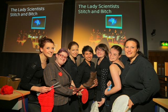 Scientists galore: Jessica Innes, Kaite Welsh, me, Jessica Johannesson-Gaitan, Emily Dodd, Rebecca Douglas and Mhairi Stewart. (Photo by Stuart McBride.)