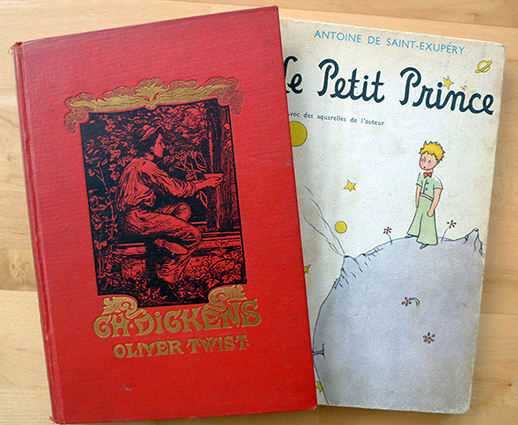 I admit I read the Little Prince in Swedish. Oliver Twist likewise.