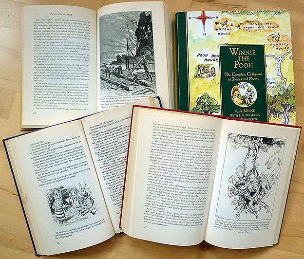 Jules Vernes, Edgar Allan Poe, A. A. Milnes and Lewis Carroll
