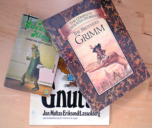 Nöstlinger, Åberg and Grimm have nothing in common except great stories.