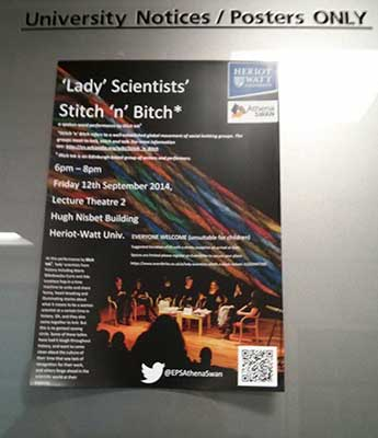 Lady Scientist poster at HWU